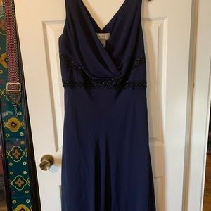 Navy blue beaded dress - plus sized